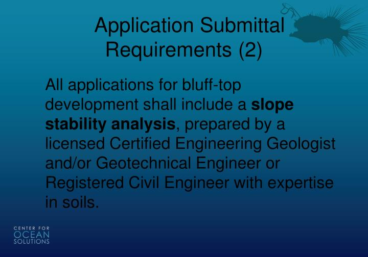 Application Submittal Requirements (2)