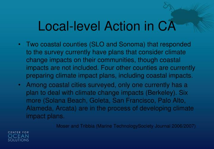 Local-level Action in CA