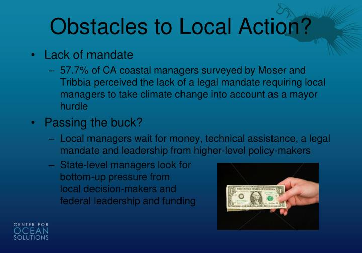 Obstacles to Local Action?