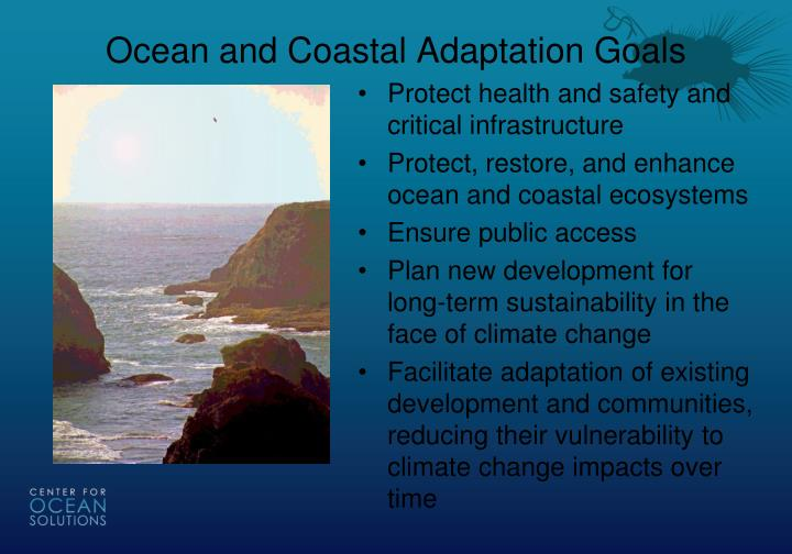 Ocean and Coastal Adaptation Goals