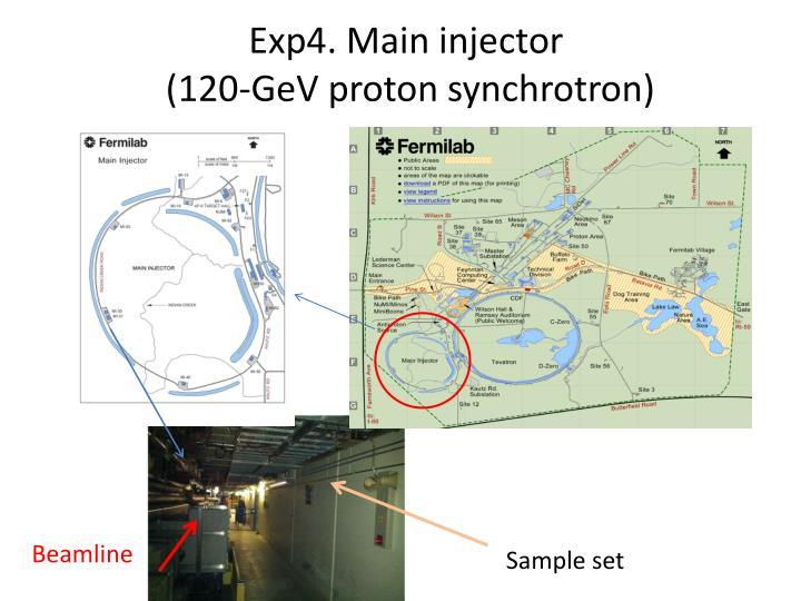 Exp4. Main injector