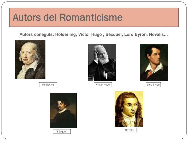 Autors del Romanticisme