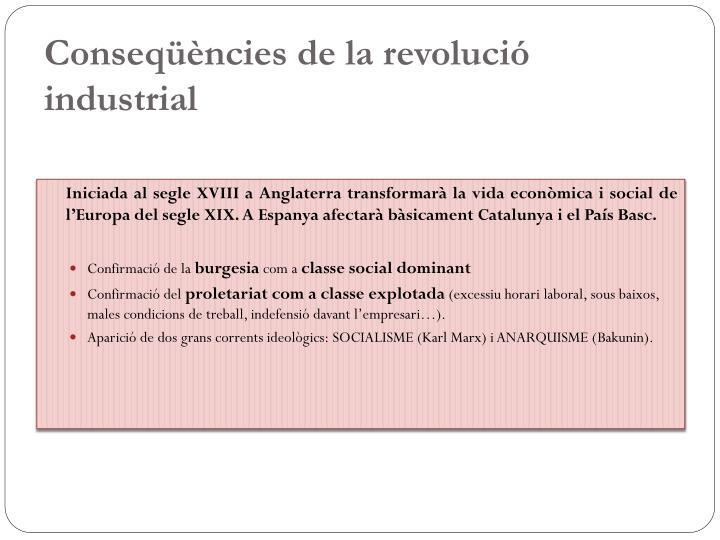 Conseqüències de la revolució industrial