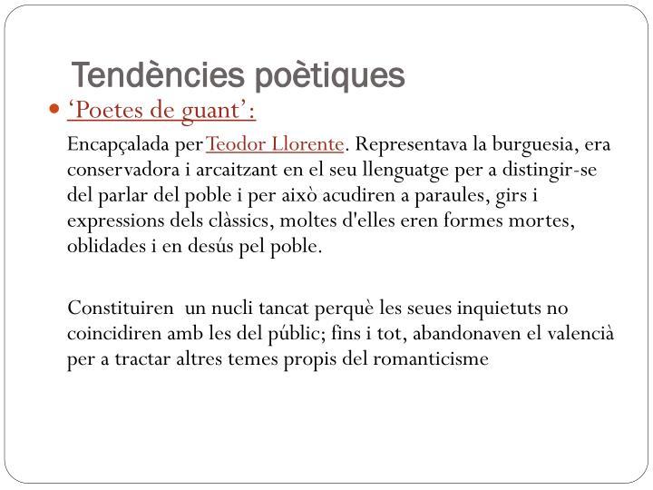Tendències poètiques