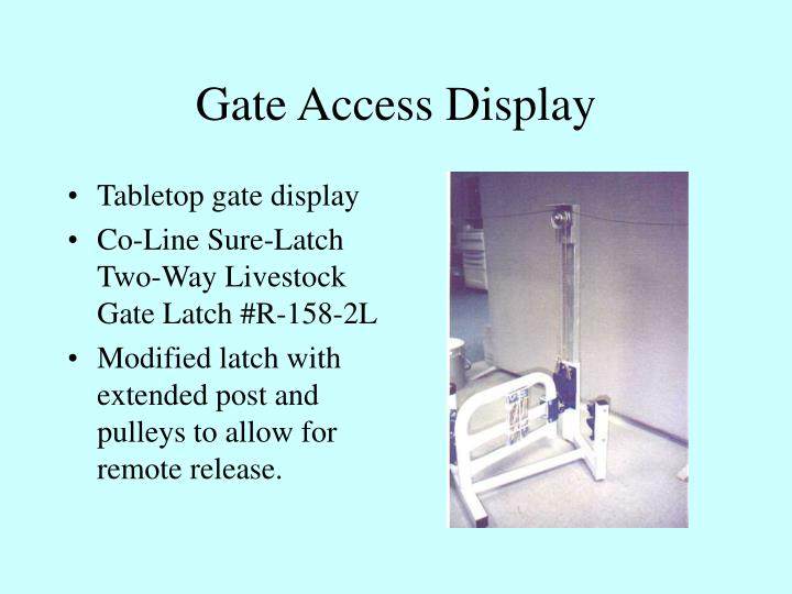 Gate access display