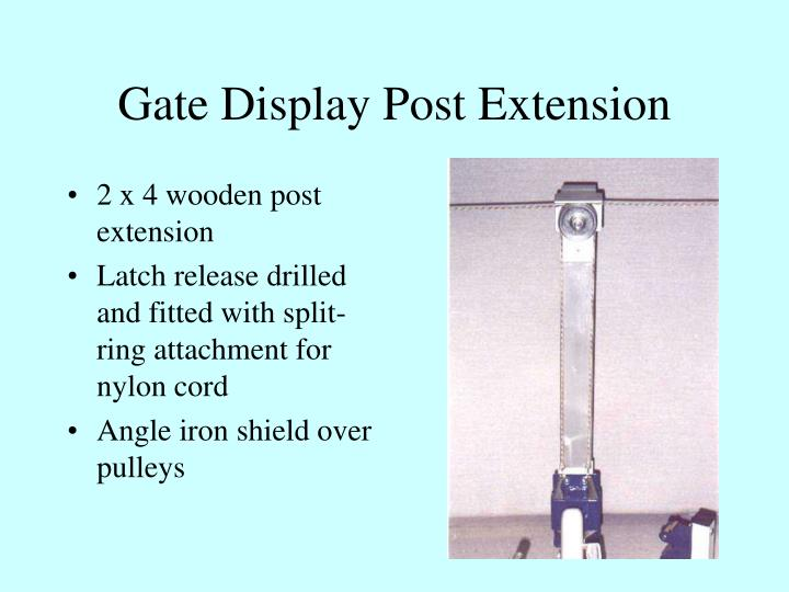 Gate Display Post Extension