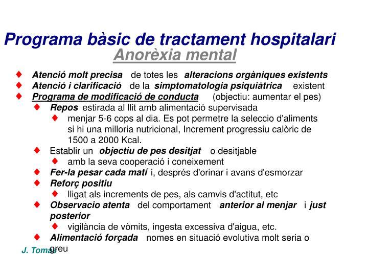Programa bàsic de tractament hospitalari