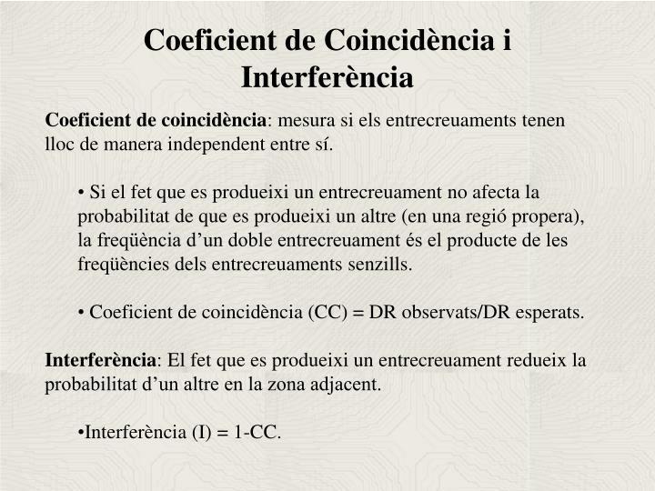 Coeficient de Coincidència i Interferència
