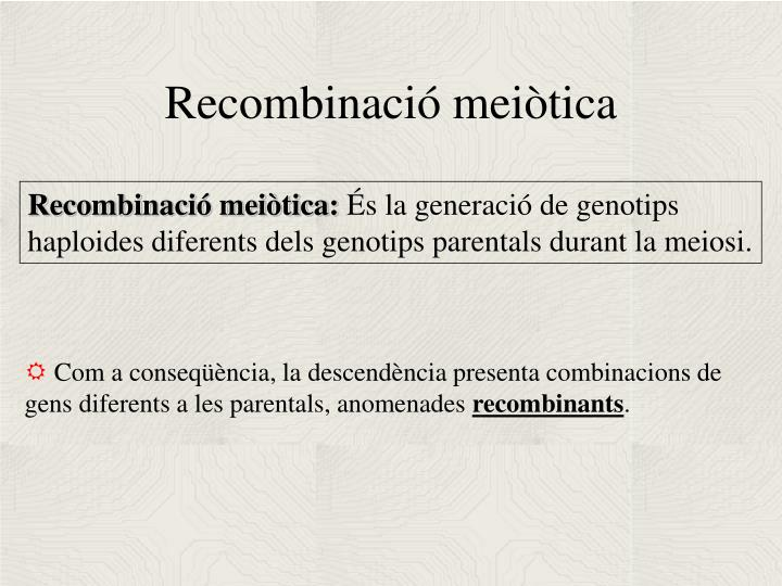 Recombinació meiòtica