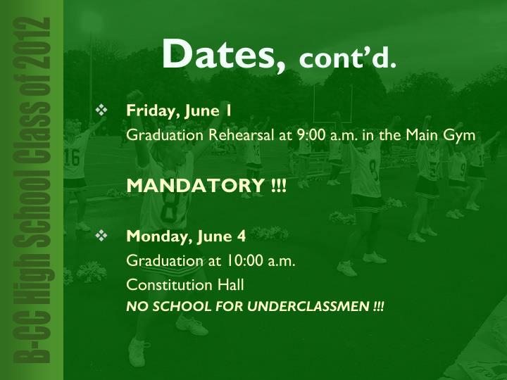 Friday, June 1