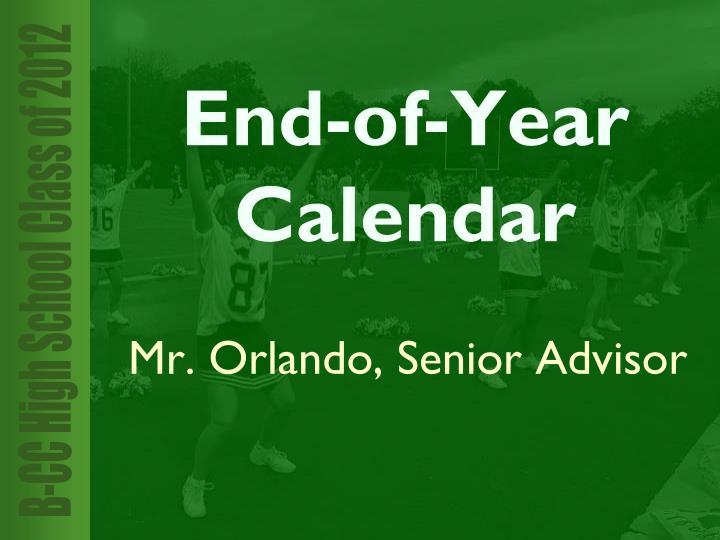 End-of-Year Calendar