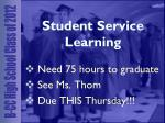 student service learning