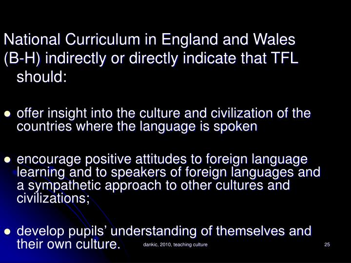 National Curriculum in England and Wales