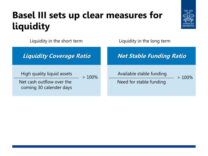 Basel III sets up clear measures for liquidity