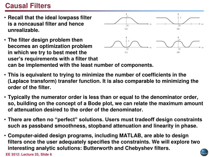 Causal Filters