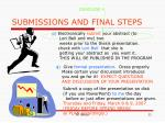 submissions and final steps