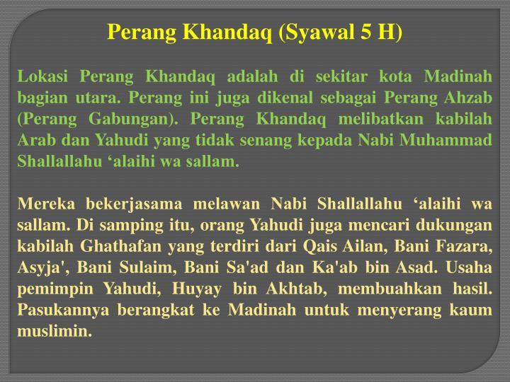 Perang Khandaq (Syawal 5 H)