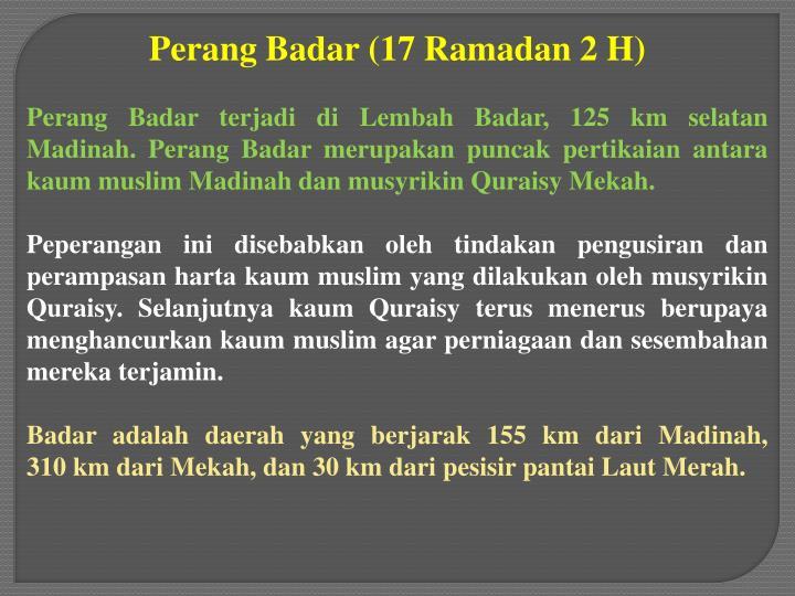 Perang Badar (17 Ramadan 2 H)