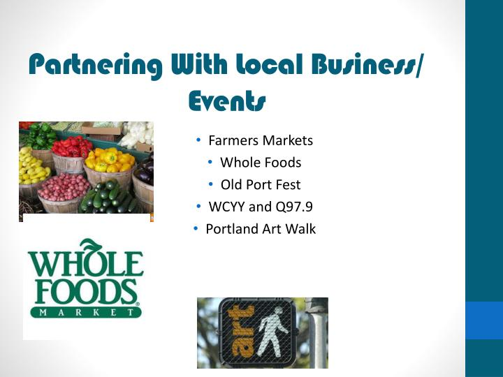 Partnering With Local Business/