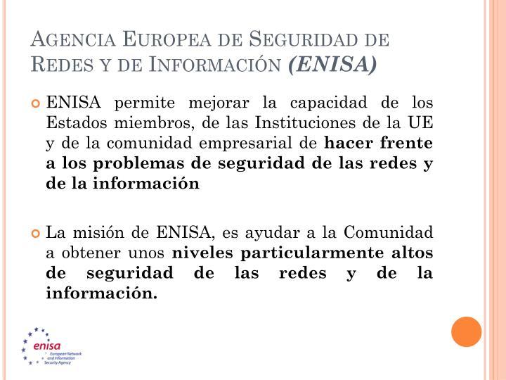 Agencia Europea de Seguridad de Redes y de Información