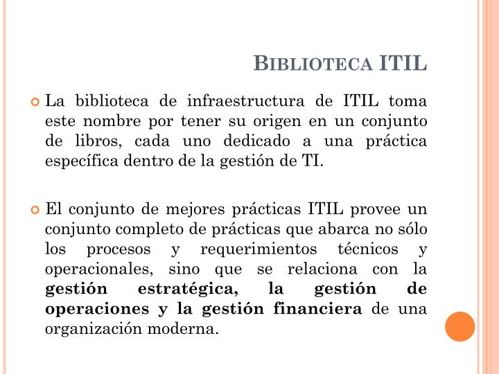 Biblioteca ITIL