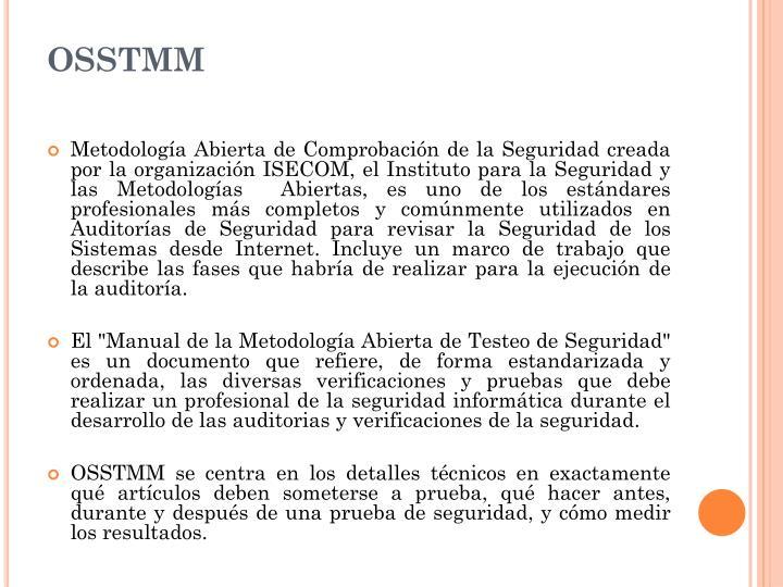 OSSTMM