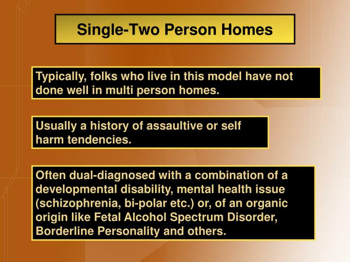 Single-Two Person Homes