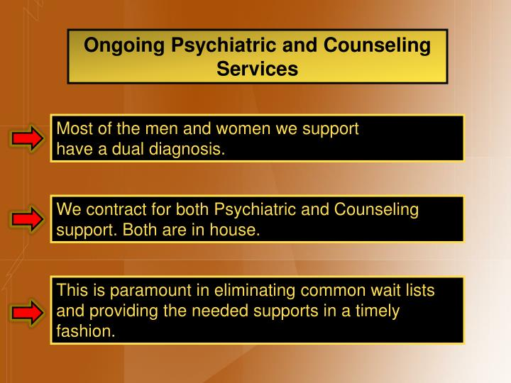 Ongoing Psychiatric and Counseling Services