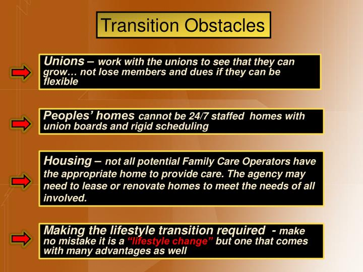 Transition Obstacles