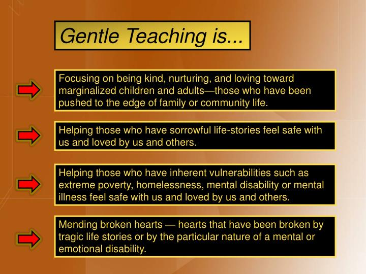 Gentle Teaching is...