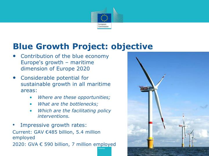 Blue growth project objective