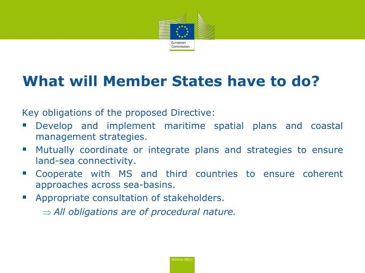 What will Member States have to do?
