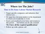 where are the jobs time to do some labour market research