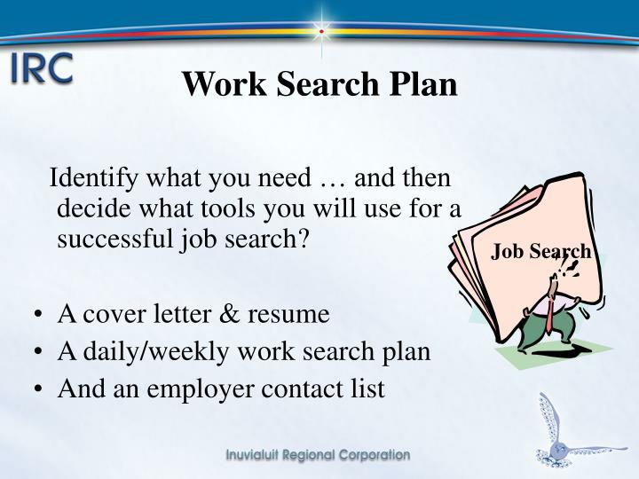 Work Search Plan
