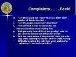 complaints eeek