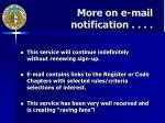more on e mail notification