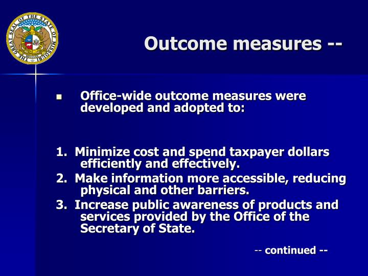 Outcome measures --