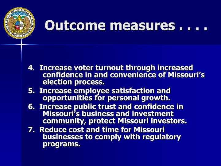 Outcome measures . . . .