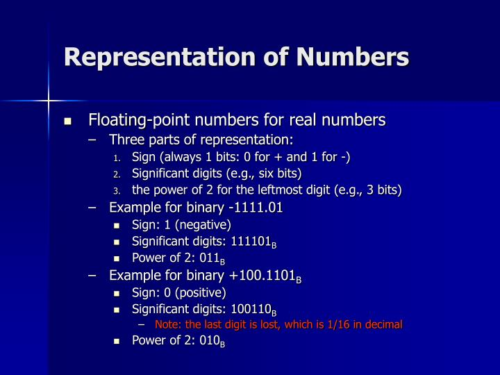 Representation of Numbers