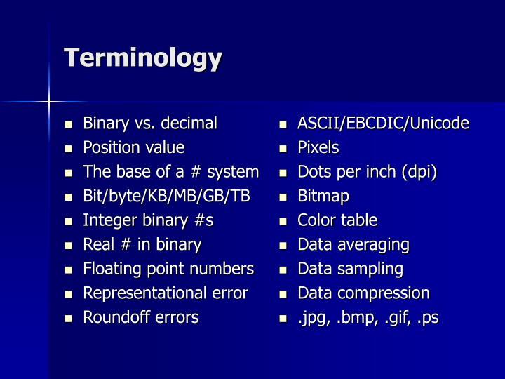Binary vs. decimal