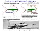 example of supersonic airfoils