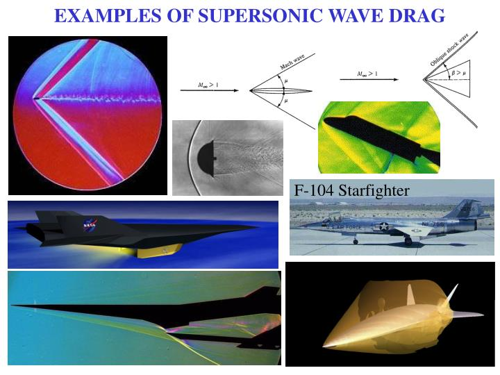 EXAMPLES OF SUPERSONIC WAVE DRAG
