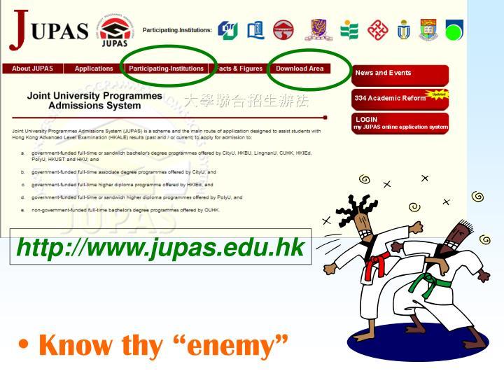 http://www.jupas.edu.hk