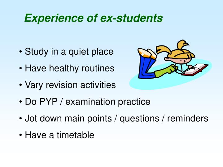 Experience of ex-students