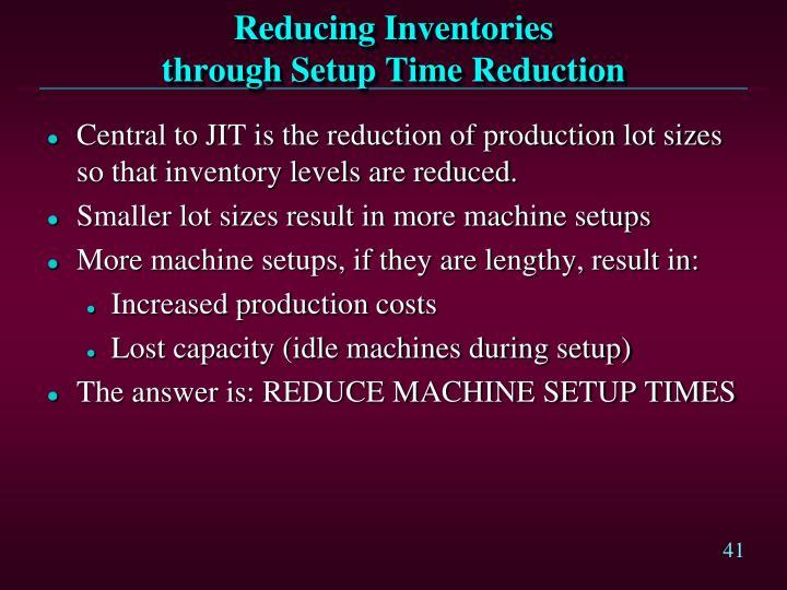 Reducing Inventories