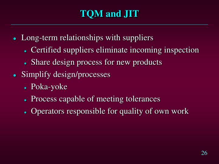 TQM and JIT