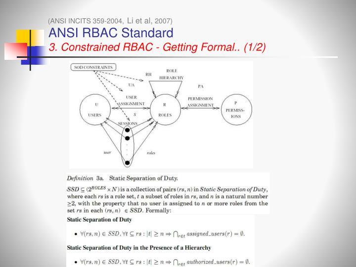 ANSI RBAC Standard