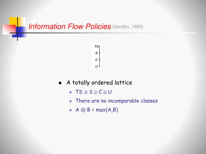 Information Flow Policies