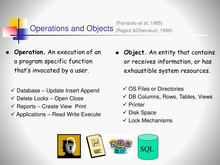 Operations and Objects