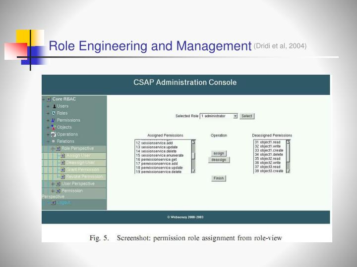 Role Engineering and Management